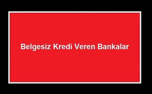 Belgesiz Kredi Veren Bankalar - Kefilsiz Belgesiz Masrafsız Kredi Nasıl Alınır?